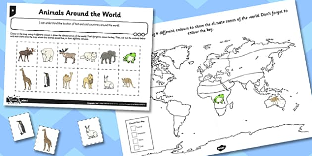 What a Wonderful World Activity Sheet Mapping the World - world, worksheet