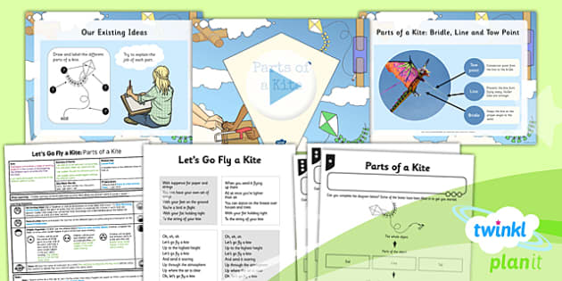 PlanIt - DT LKS2 - Let's Go Fly a Kite Lesson 2: Parts of a Kite Lesson Pack