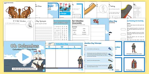 Columbus Day Bumper Resource Pack