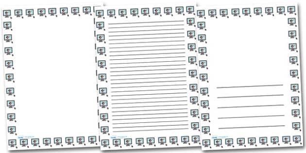 Computer Screen Picture Portrait Page Borders- Portrait Page Borders - Page border, border, writing template, writing aid, writing frame, a4 border, template, templates, landscape