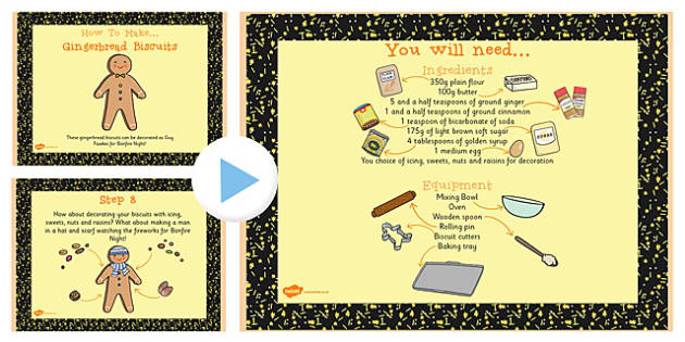 Ginger Biscuit Recipe PowerPoint - Ginger, Biscuit, Recipe, Food
