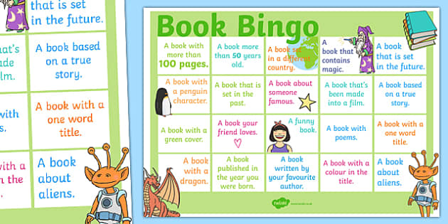 Book Bingo A3 Display Poster - reading, literacy, game, library, ks2, display, classroom, english