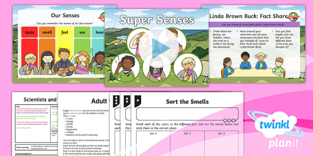 PlanIt - Science Year 1 - Scientists and Inventors Lesson 7: Super Senses Lesson Pack - Scientists, Inventors, sense, smell, science, smelling, senses, scent, scents