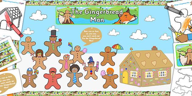 Ready Made Gingerbread Man Display Pack - ready made, display