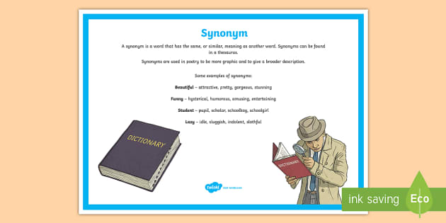 Synonym Poetry Terms A4 Display Poster - Literacy, Interpreting, analysing, evaluating, english, poetry, writing, poems, poetry, synonym, glo