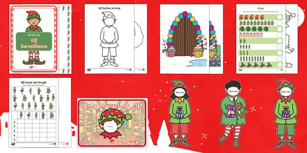 Christmas Elf Activity Pack - Christmas, elves, elf, christmas elf, elf workshop, Santa, Father Christmas, Santa's workshop