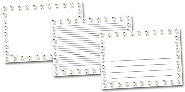 Baby Goat Kid Landscape Page Borders- Landscape Page Borders - Page border, border, writing template, writing aid, writing frame, a4 border, template, templates, landscape