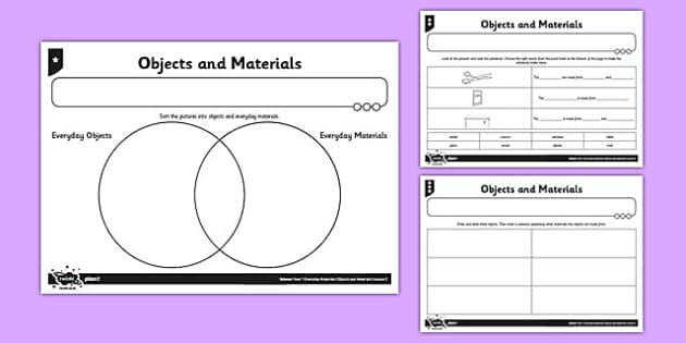 Object and Materials Activity Sheet - object, materials, activity, sheet, worksheet