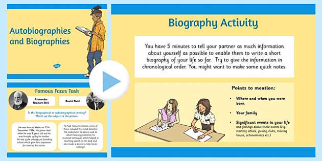 Autobiography and Biography PowerPoint - biography, autobiography
