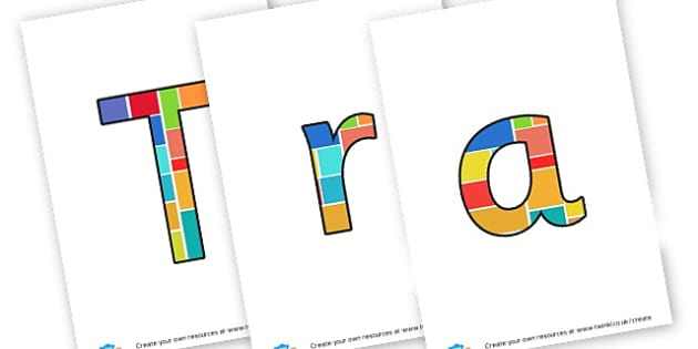 Transport - display lettering - Transport Display Primary Resources, display, banner, poster