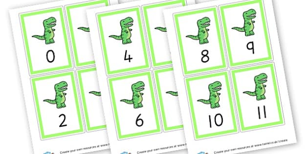 Number Cards 1-20 (Green) - Maths Primary Resources, maths games, numbers, counting, money, NUMRCEY