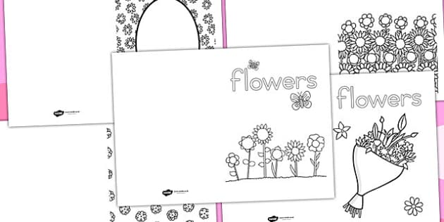 Flower Colouring Cards - australia, flower, colouring cards
