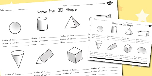 the 3D Shape Worksheet 2 - australia, 3d, shape, sheet