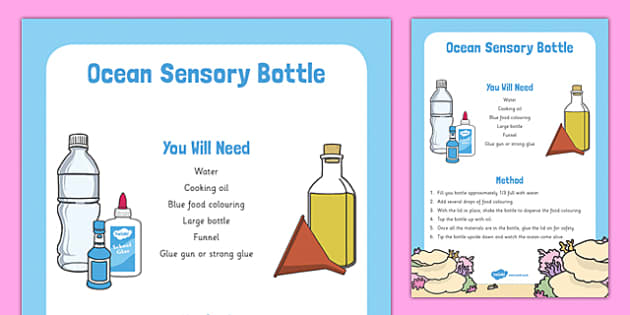 Ocean Sensory Bottle - ocean, sensory bottle, sensory, bottle, eyfs, early years