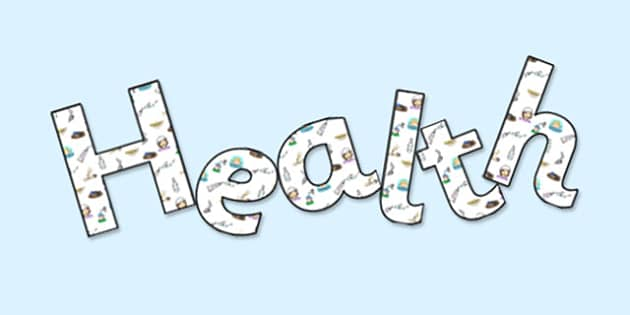 Health' Display Lettering - health, healthy, fitness, fit, sport