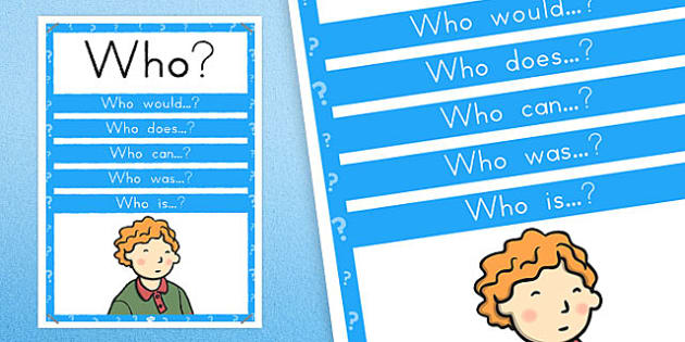 Who? Question Poster - australia, question, poster, display, who