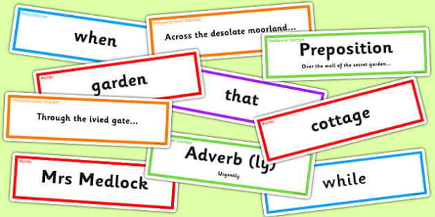 The Secret Garden Sentence Building Pack - secret, garden, pack