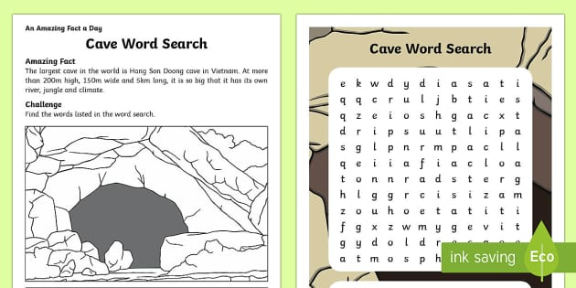 Cave Word Search