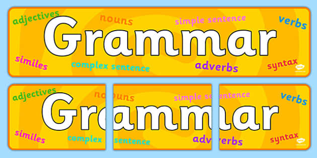 Grammar Display Banner - grammar, display banner, banner, display banner, display header, themed banner, themed header, header, banner for display