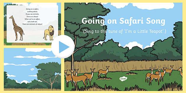 Going on Safari Song PowerPoint