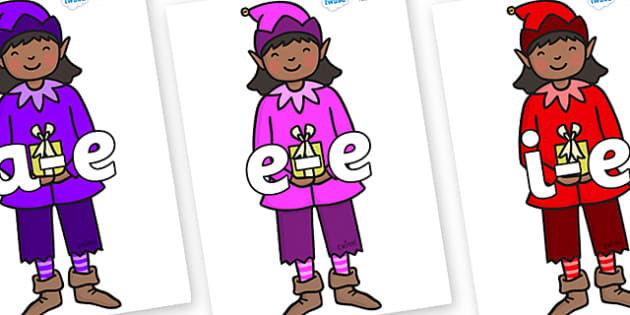 Modifying E Letters on Girl Elves (Multicolour) - Modifying E, letters, modify, Phase 5, Phase five, alternative spellings for phonemes, DfES letters and Sounds
