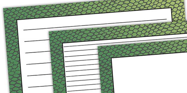 Snake Pattern Landscape Page Border - safari, safari page borders, snake page borders, snake pattern page borders, safari animal pattern page borders