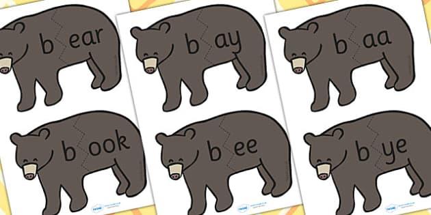 b Sound And Vowel Animal Jigsaw - sounds, vowels, jigsaw, animals