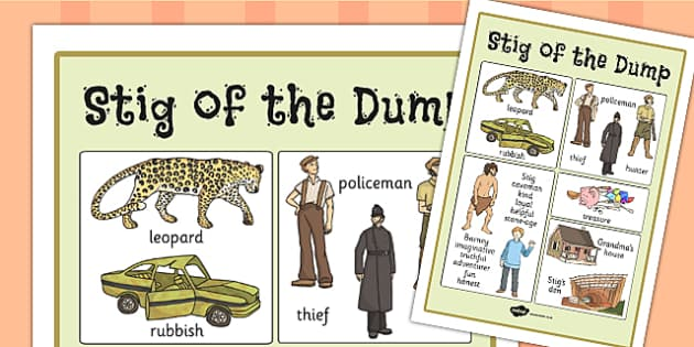Stig of the Dump Vocabulary Poster - stig, vocabulary, posters