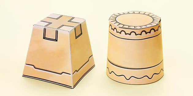 Seaside 3D Sandcastle Paper Model Activity - seaside, paper model