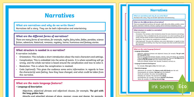 What is  Narrative? A4 Display Poster - Literacy, What is Narrative?  A4 Display Poster, narrative, literature, descriptive, narratives, yea