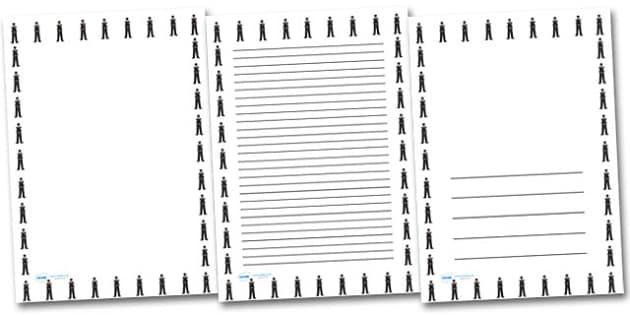 Policeman Portrait Page Borders- Portrait Page Borders - Page border, border, writing template, writing aid, writing frame, a4 border, template, templates, landscape