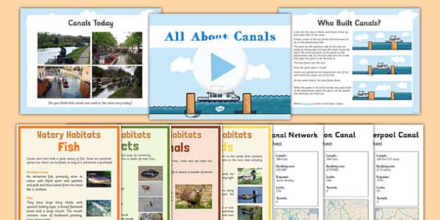 Canals Resource Pack - canals, resource pack, pack, geography, ks2, english