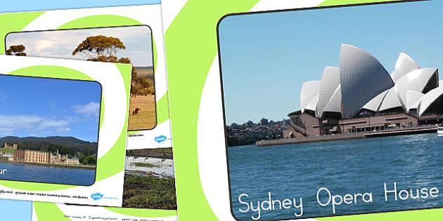Famous Australian Landmarks Photo Display Posters - australia