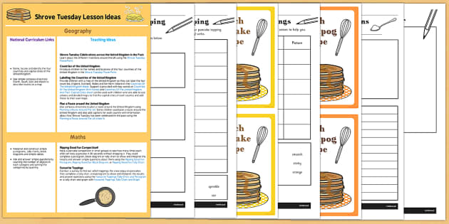 KS1 Pancake Day Lesson Ideas and Resource Pack - shrove Tuesday