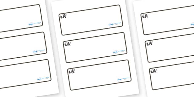 Panda Themed Editable Drawer-Peg-Name Labels (Blank) - Themed Classroom Label Templates, Resource Labels, Name Labels, Editable Labels, Drawer Labels, Coat Peg Labels, Peg Label, KS1 Labels, Foundation Labels, Foundation Stage Labels, Teaching Labels