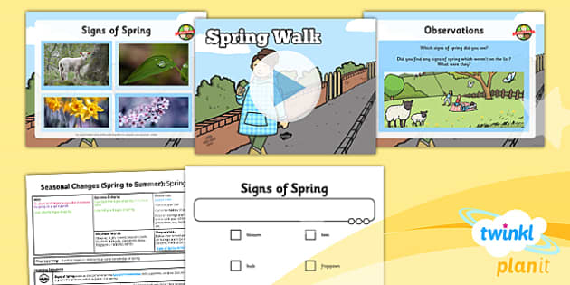 PlanIt - Science Year 1 - Seasonal Changes (Spring and Summer) Lesson 3: Spring Walk Lesson Pack - planit