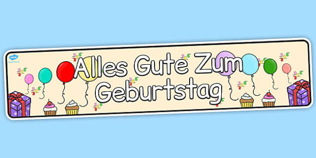 German Happy Birthday Display Banner - german, display, banner
