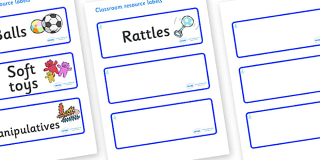 Raindrop Themed Editable Additional Resource Labels - Themed Label template, Resource Label, Name Labels, Editable Labels, Drawer Labels, KS1 Labels, Foundation Labels, Foundation Stage Labels, Teaching Labels, Resource Labels, Tray Labels, Printable