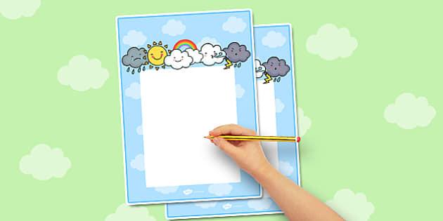 Weather Themed Editable Notes - season, teacher note, praise note