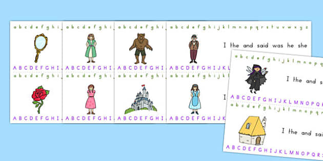 Beauty and the Beast Alphabet Strips - australia, beauty, beast