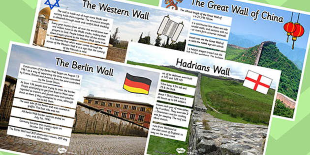 Walls and Barricades Facts Display Poster Pack - walls, barricades, facts, display