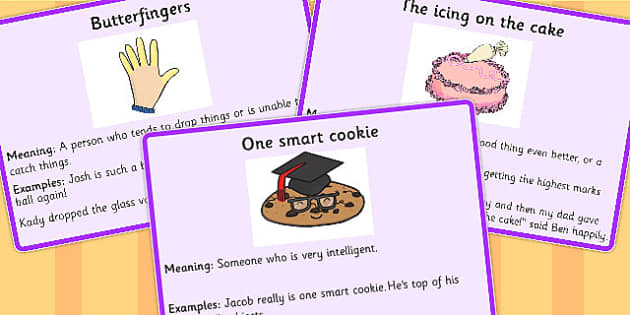 Food Idioms Meaning Cards - food, idioms, meaning, cards, sen