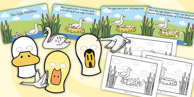 The Ugly Duckling Story Sack - story sack, story books, story book sack, stories, story telling, childrens story books, traditional tales