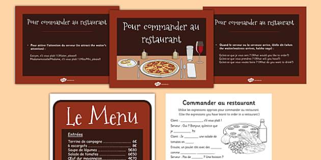 Au restaurant Role Play French - french, au restaurant, restaurant, language, role play