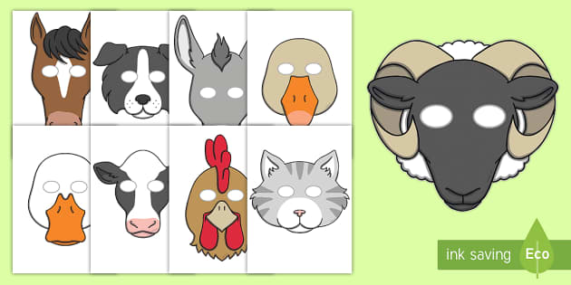 Old MacDonald Had a Farm Role Play Masks - Old MacDonald Had a Farm, nursery rhyme, rhyme, rhyming, nursery rhyme story, nursery rhymes, farm, farm animals, action song, Old MacDonald resources, role play mask, role play