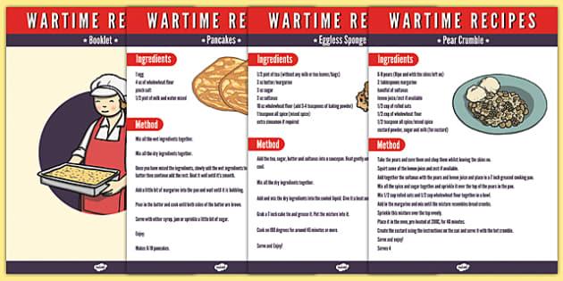 Wartime Recipe Booklet - wartime, recipe, booklet, food, rations