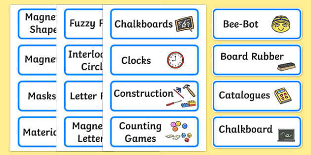 Additional Classroom Resource Labels (Blue) - Label template, Resource Label, Name Labels, Editable Labels, Drawer Labels, KS1 Labels, Foundation Labels, Foundation Stage Labels, Teaching Labels, Resource Labels, Tray Labels, Printable labels