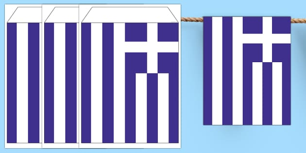 Greece Flag Bunting - greece flag, greece, flag, bunting, display bunting, display, country