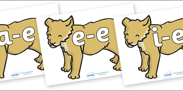 Modifying E Letters on Puppy - Modifying E, letters, modify, Phase 5, Phase five, alternative spellings for phonemes, DfES letters and Sounds