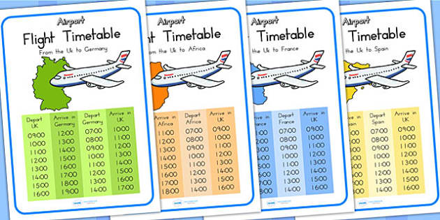 Airport International Flight Timetable - airport, role play